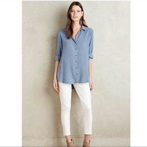 Anthropologie Cloth & Stone Chambray Button Tunic